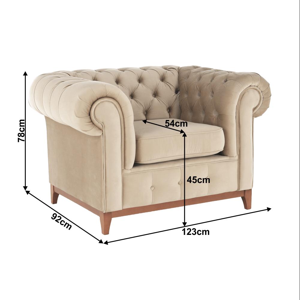 Luxus fotel, világosbarna, TIFANY 1