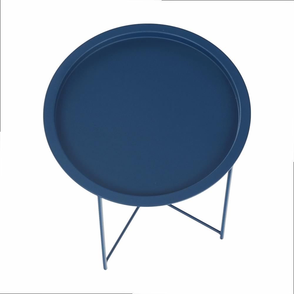 Kisasztal levehető tálcával, sötétkék, RENDER