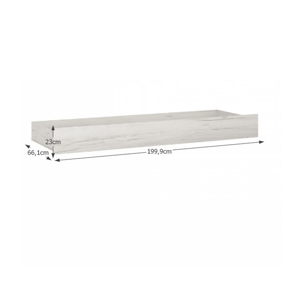 Ágy alatti tároló Typ 96, fehér craft, ANGEL