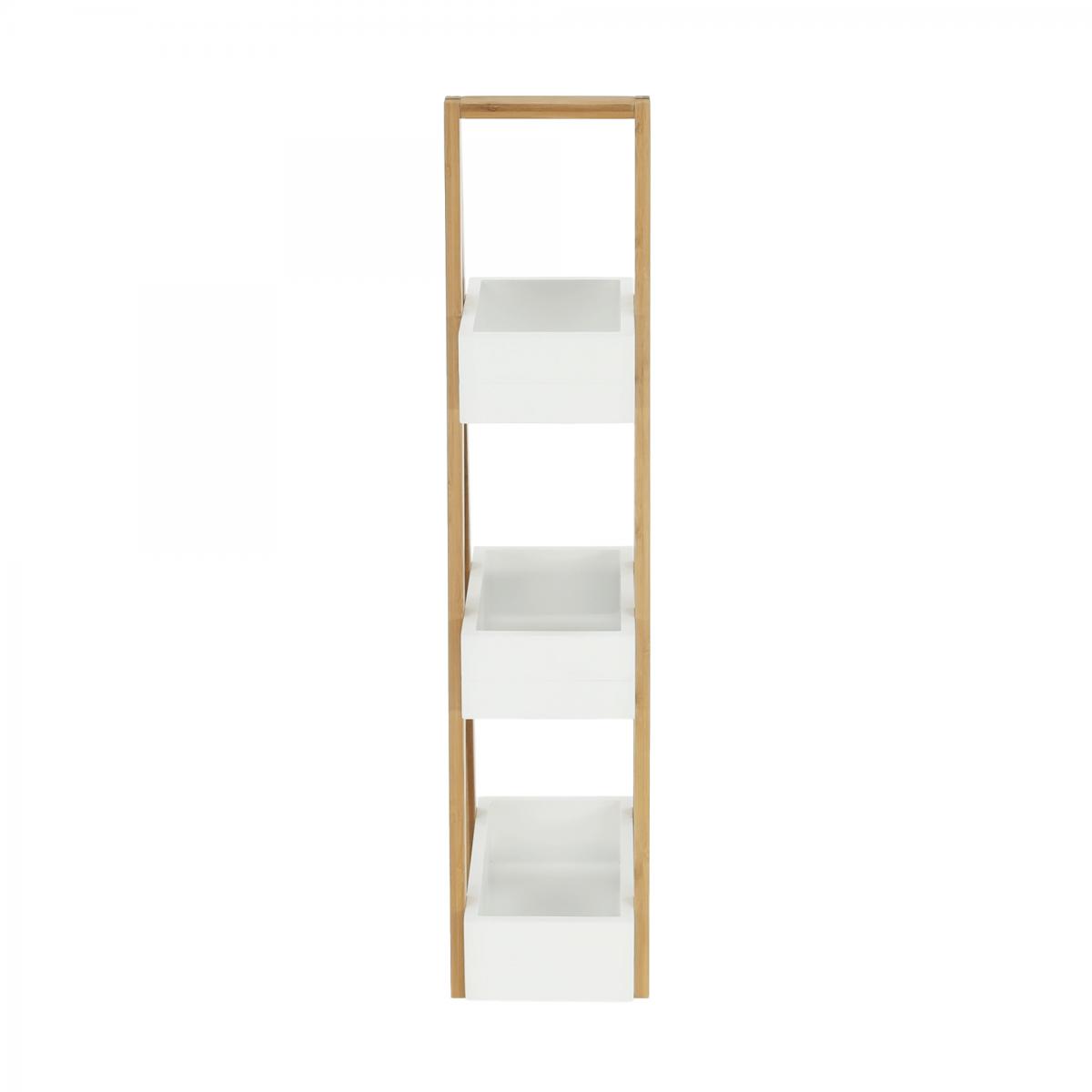 Polc, bambusz/fehér, VEGO