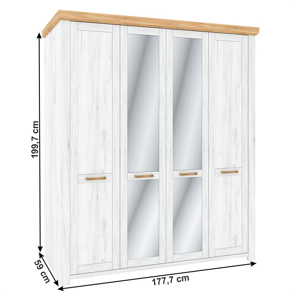 Akasztós szekrény Q, tölgy craft arany/tölgy craft fehér, SUDBURY