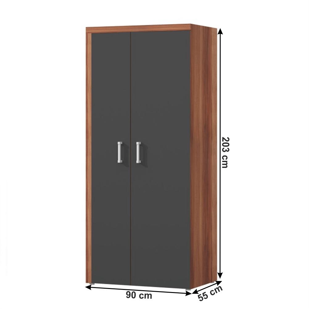 Akasztós szekrény, szilva/szürke grafit, CHERIS 1