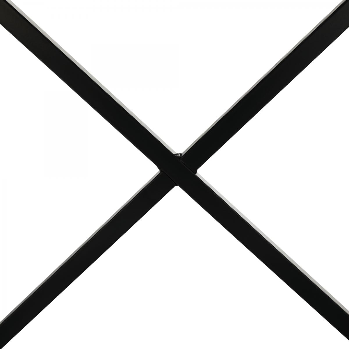 Kisasztal/éjjeliszekrény, fehér/fekete, VIRED