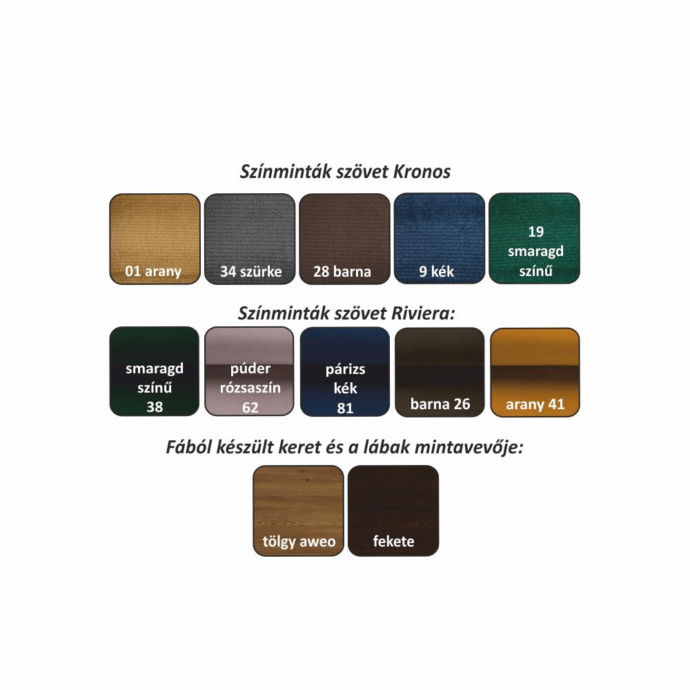 2,5-ülés, kékeszöld/aweo tölgy, rendelésre, POWEL 2, 5 WF