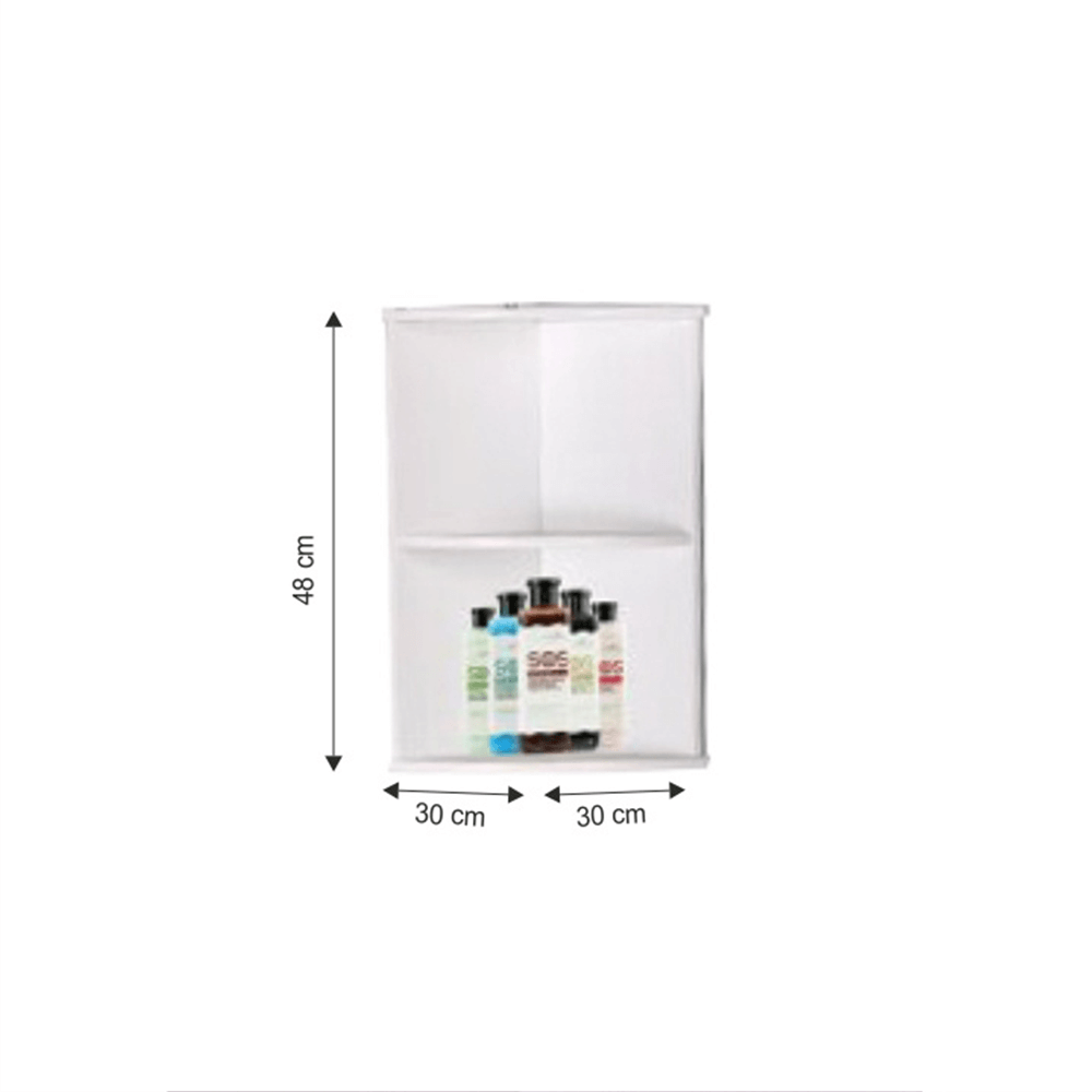 Fali sarokszekrény, fehér, ATENE TYP 4