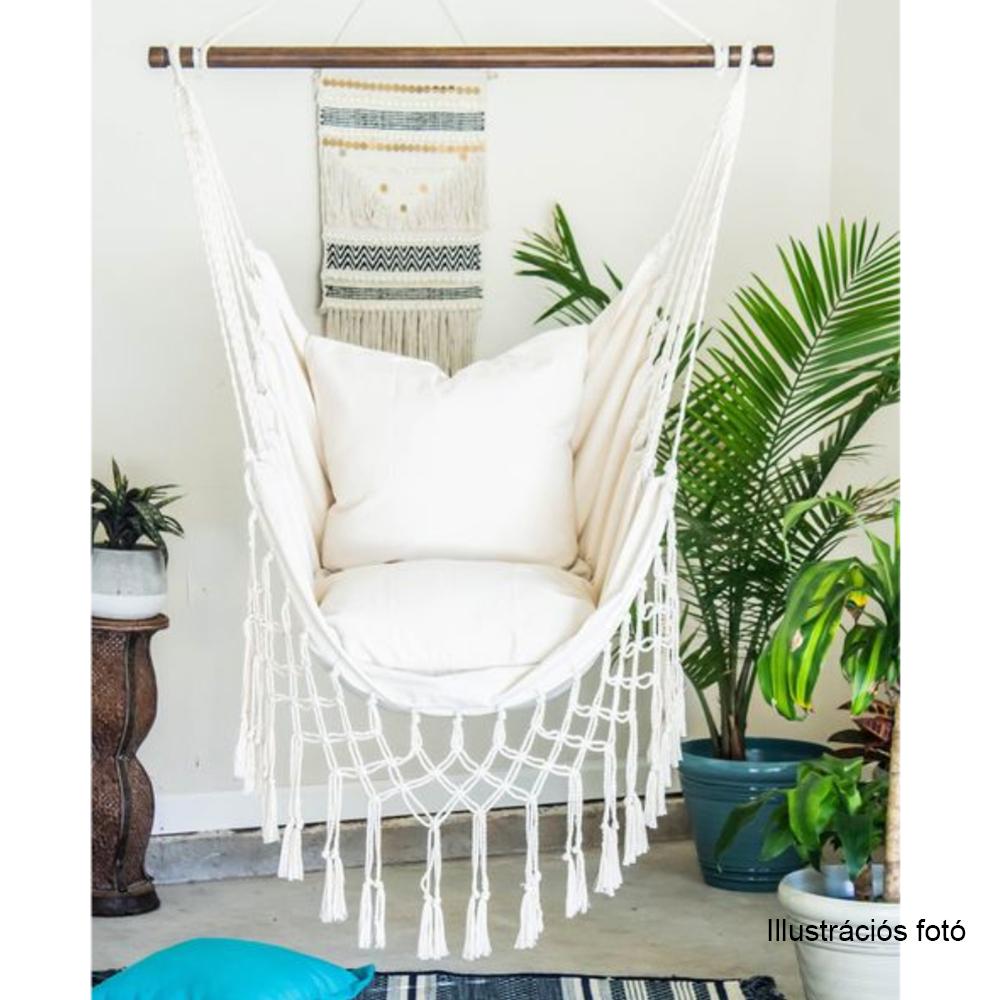 Függő fotel, krémszínű, OFRAME