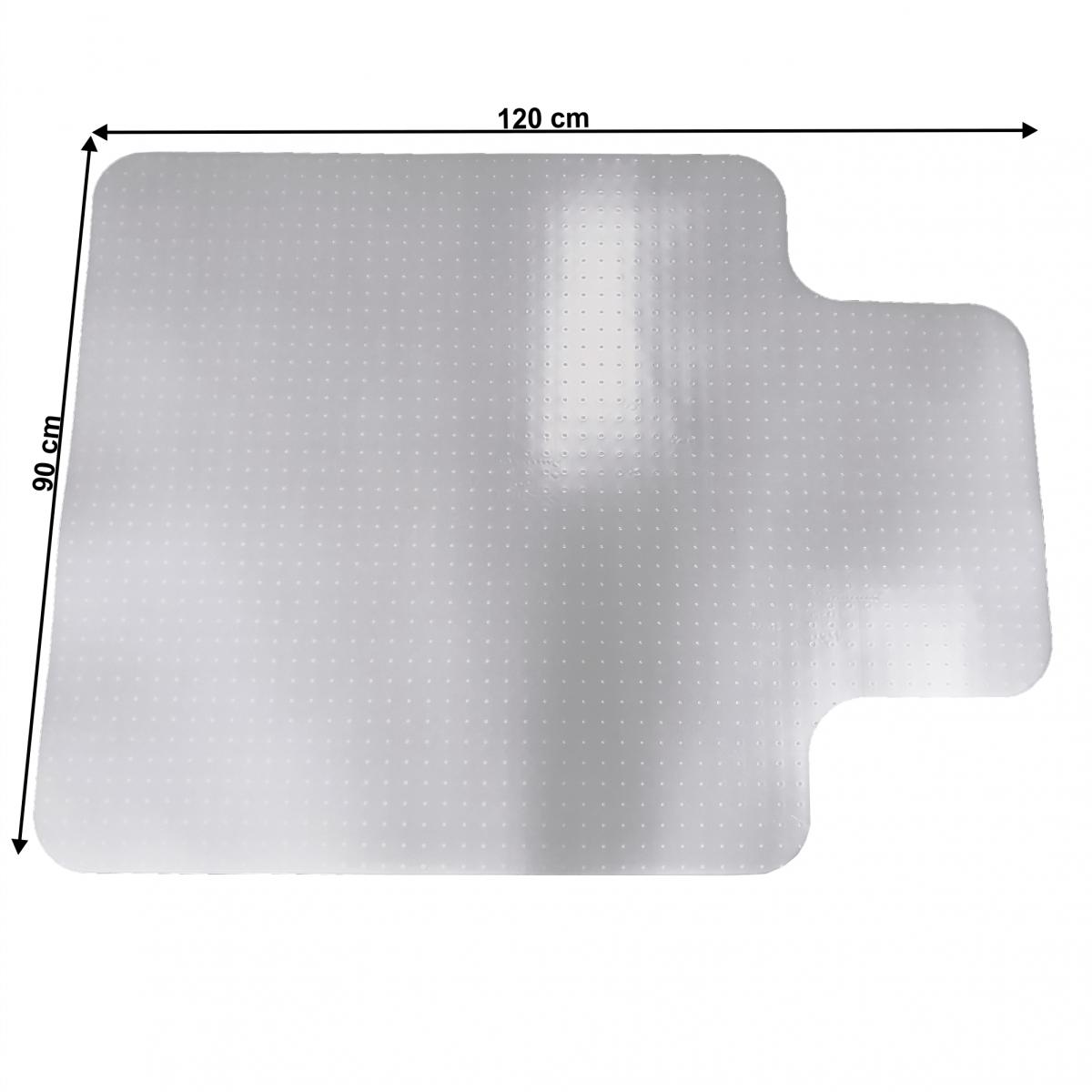 Védőalátét a szék alá, tejes, 90x120 cm, 1,8 mm, ELLIE NEW TYP 9