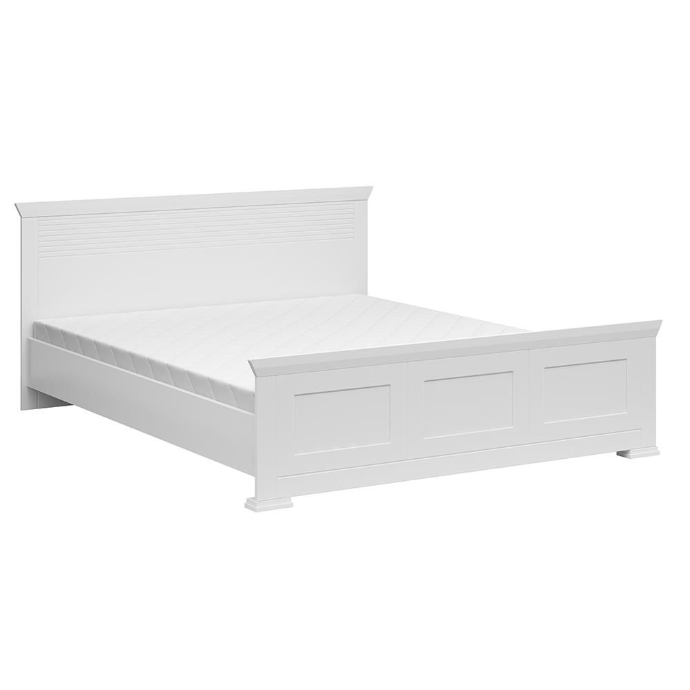 Ágy, fehér, 160x200 cm, ARYAN