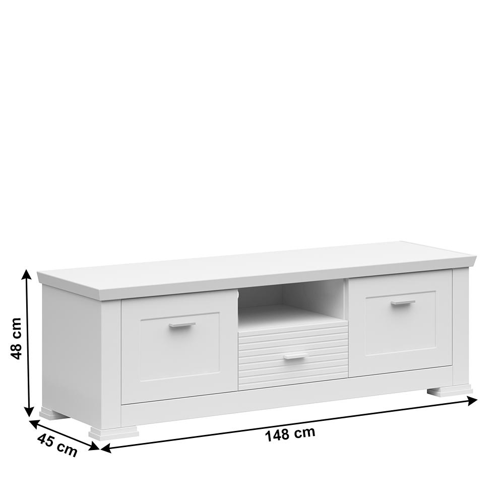RTV asztal, fehér, ARYAN 2D1S