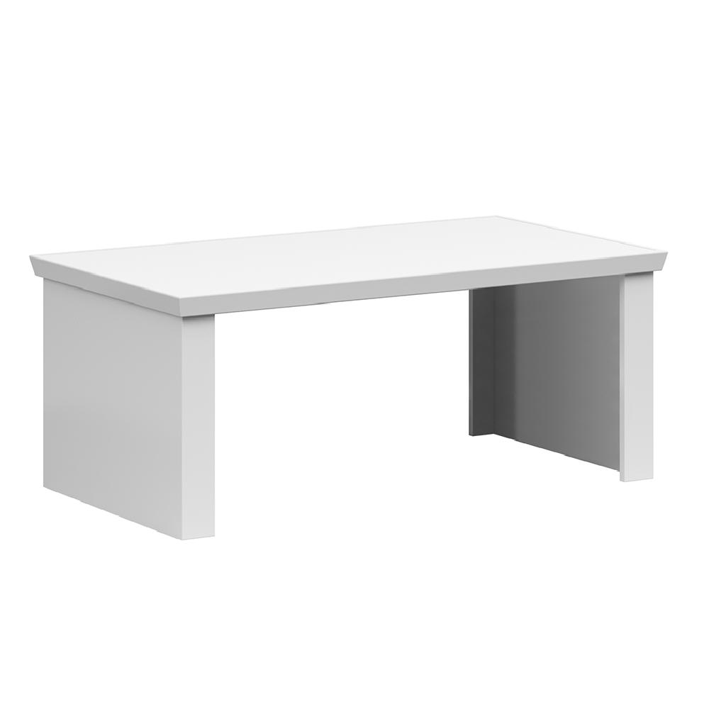 Dohányzóasztal, 110cm, fehér, ARYAN