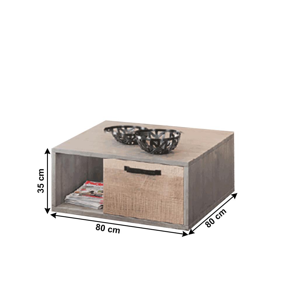 Dohányzóasztal, homok tölgy/szürke, BARIA 1S
