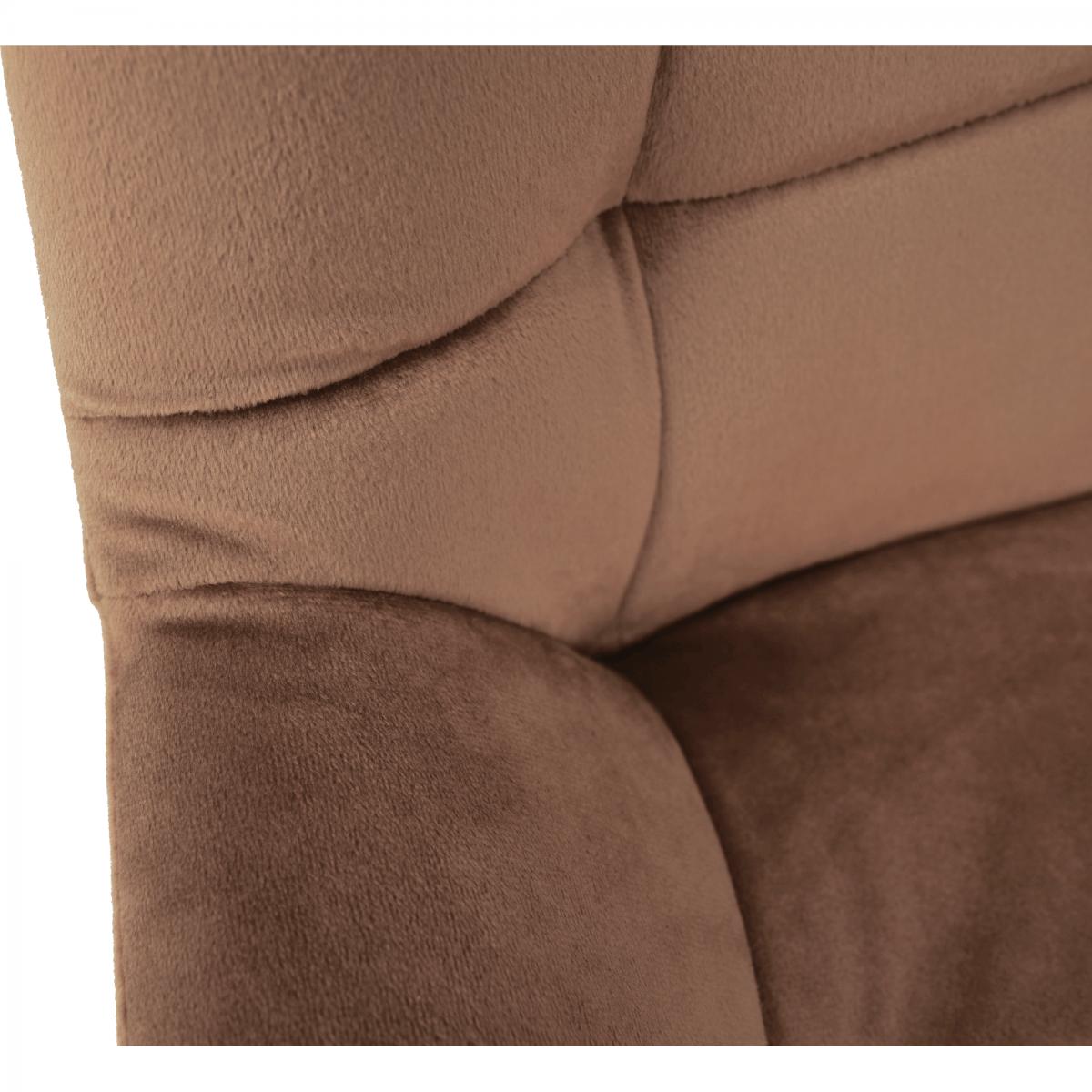 Bárszék, barna Velvet anyag, CHIRO NEW