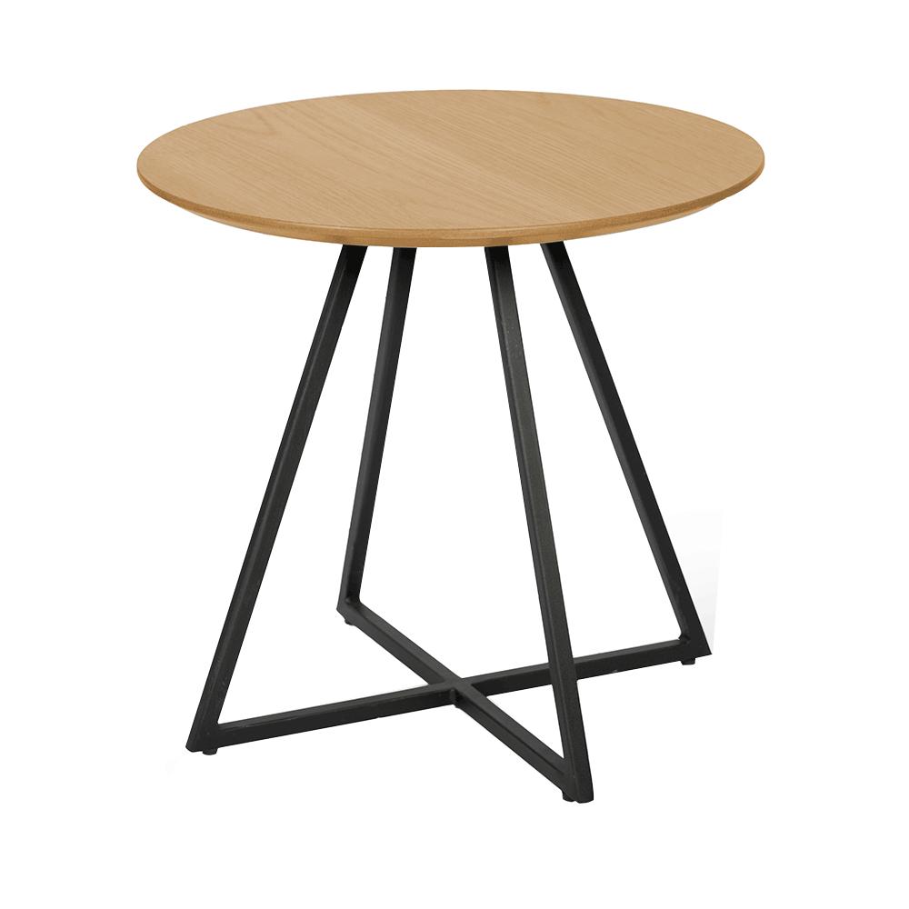 Kisasztal, tölgy/fekete, DELIK
