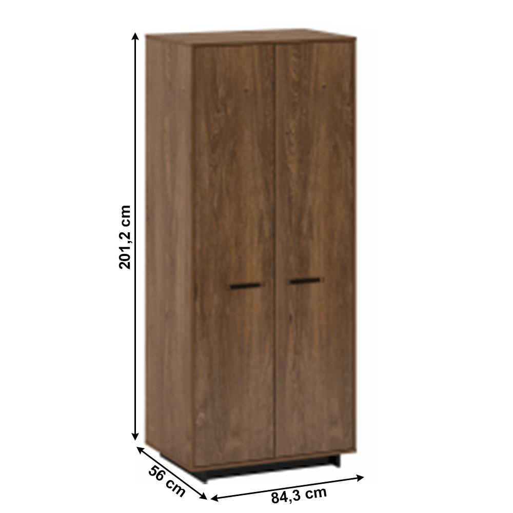 Akasztós szekrény, bolzano tölgy/fekete, DELIS F