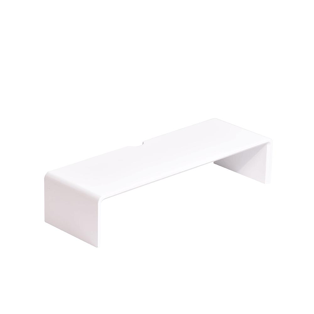 Monitor állvány, bambusz, fehér, ELARO TYP 1