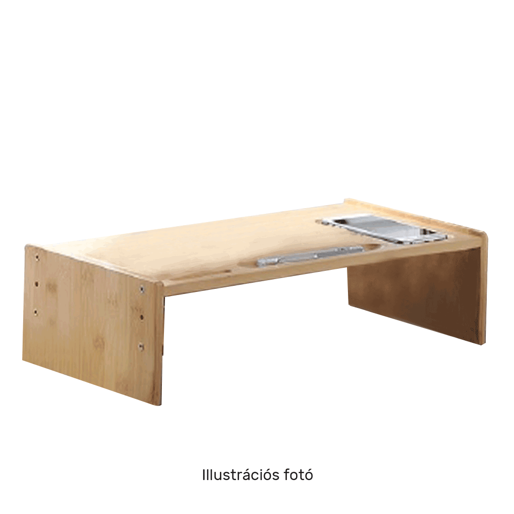 Monitor állvány, bambusz, fehér, ELARO TYP 3