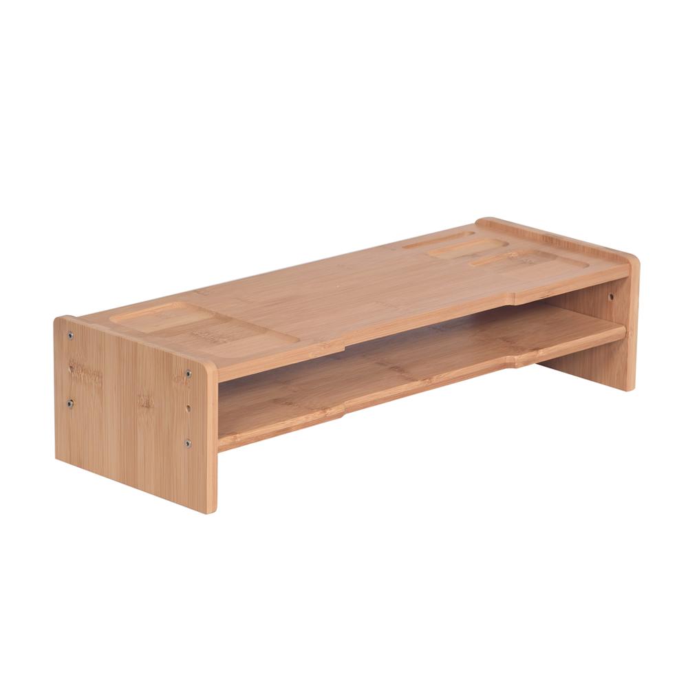 Monitor állvány, bambusz, természetes, ELARO TYP 4