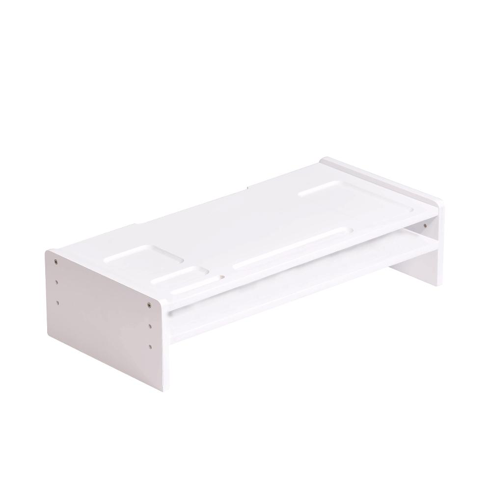 Monitor állvány, bambusz, fehér, ELARO TYP 4