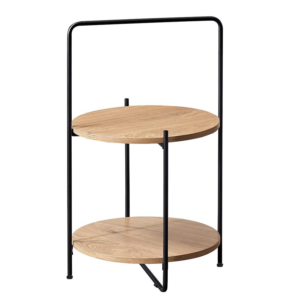 Kisasztal, tölgy/fekete, EMRIO