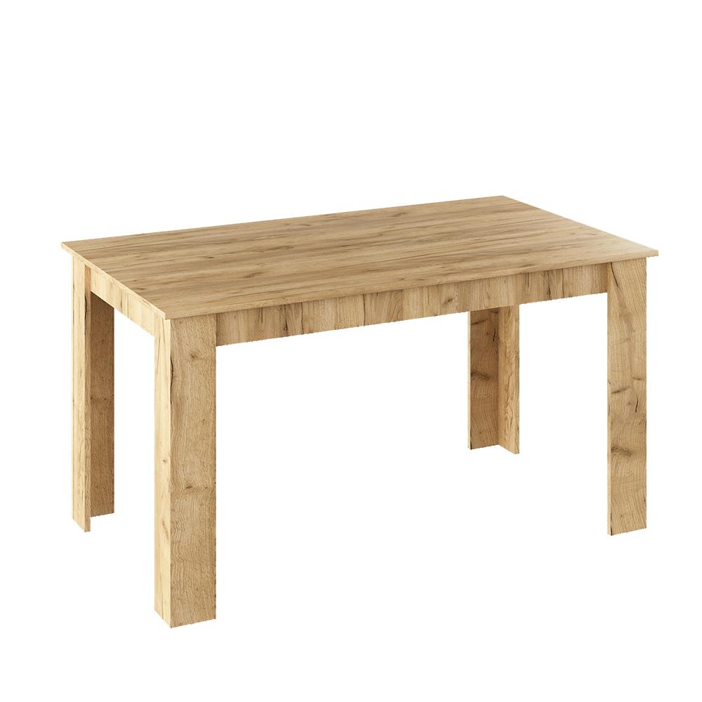Étkezőasztal, artisan tölgy, 140x80 cm, GENERAL NEW