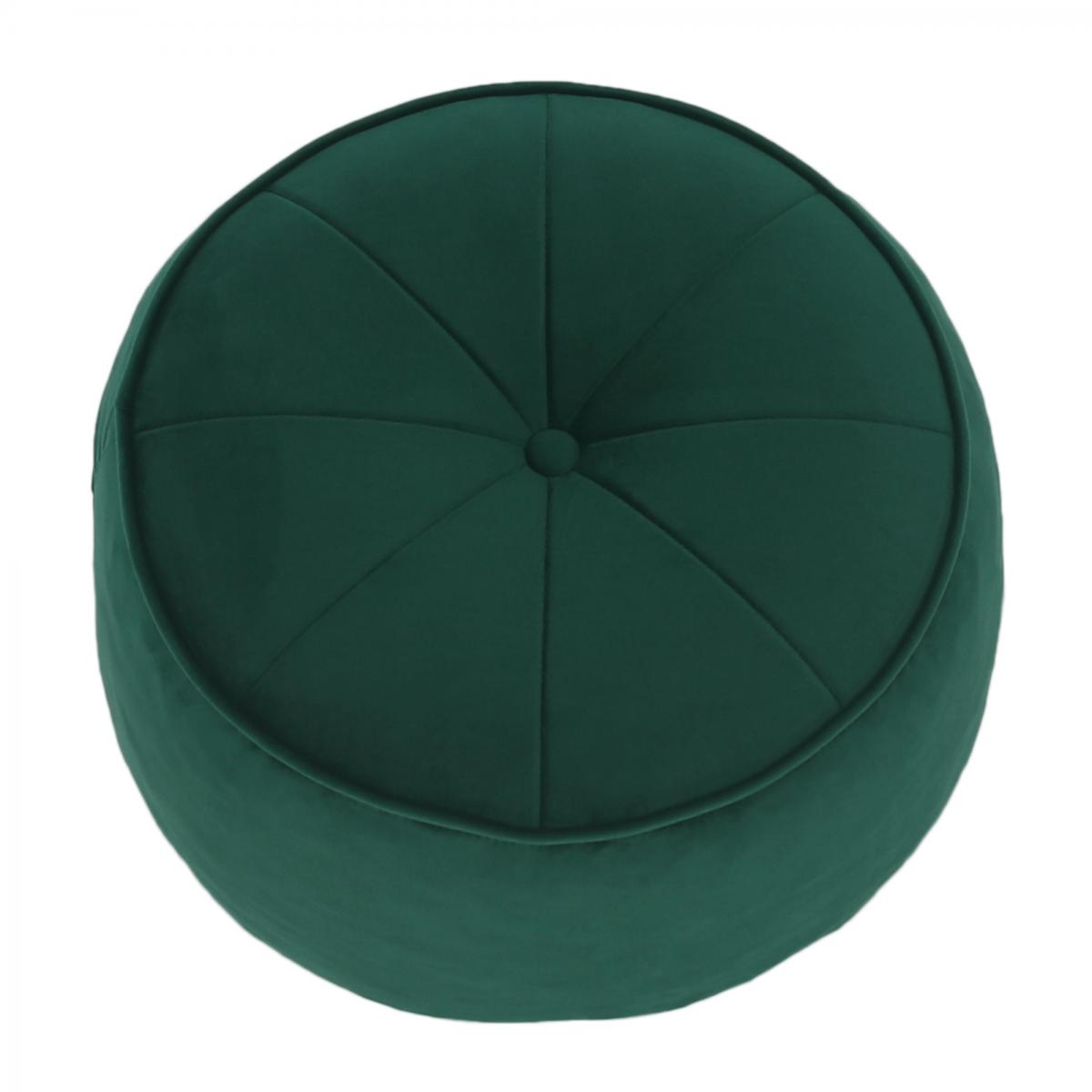 Puff, anyag smaragd, KEREM