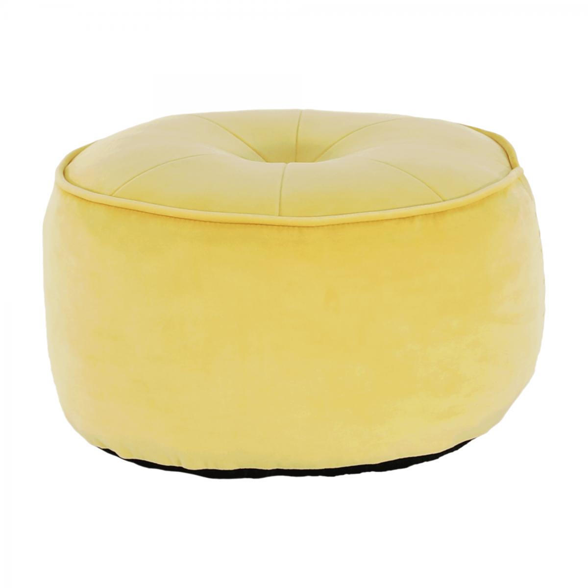 Puff, anyag sárga, KEREM