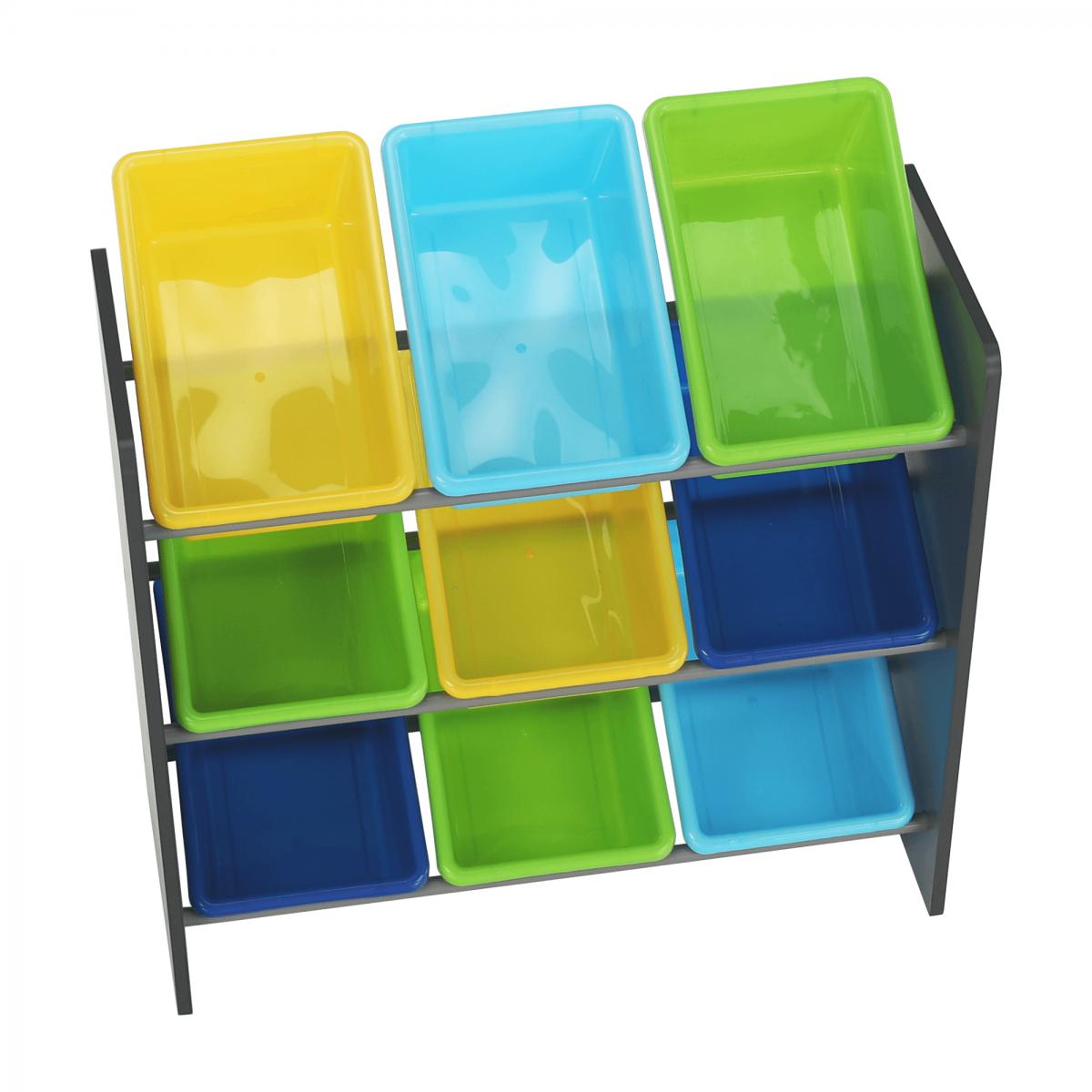 Rendszerező játékokhoz, sokszínű/szürke, KIDO TYP 3