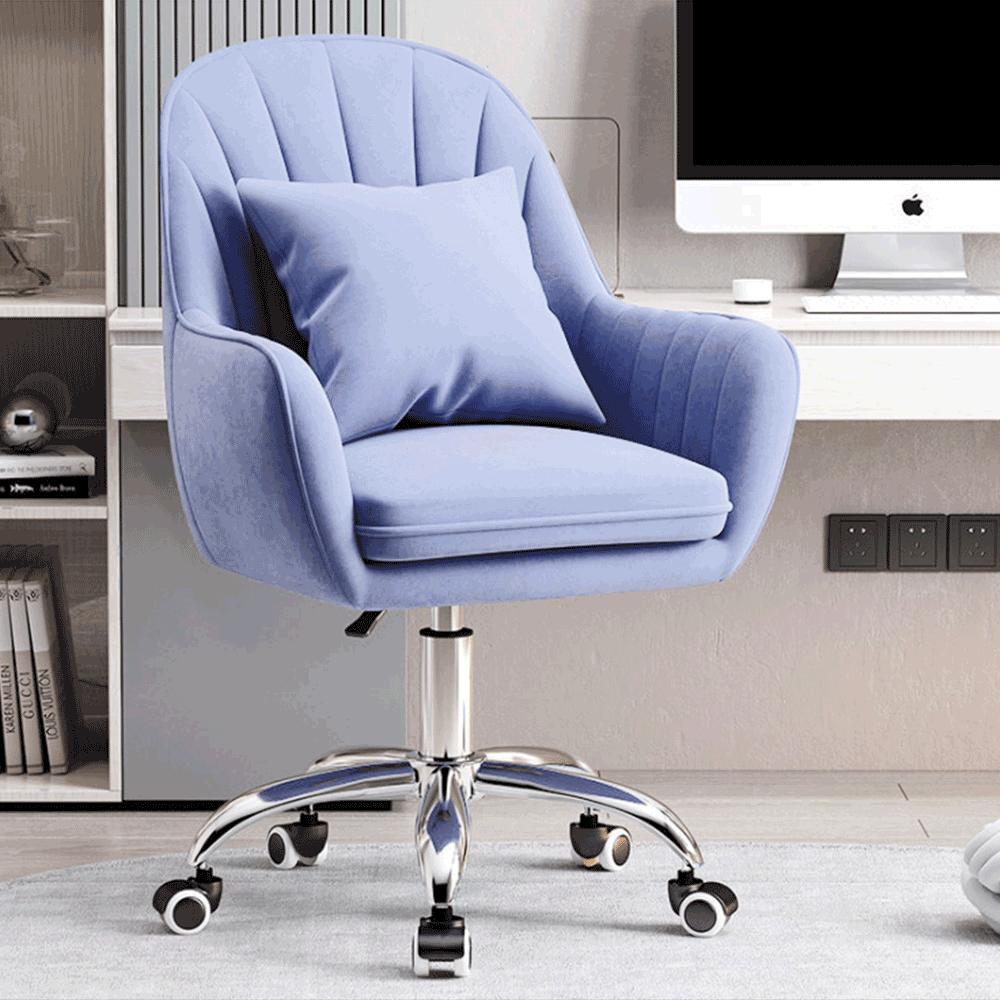 Irodai szék, kék Velvet szövet/króm, KLIAN
