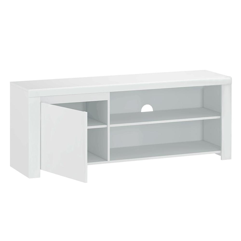 TV asztal 1D/160, fehér fényes, LINDY