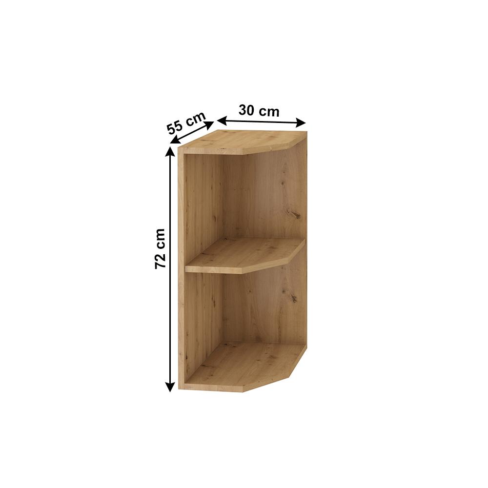 Alsó nyitott szekrény, artisan tölgy, MONRO 30 D ZAK BB