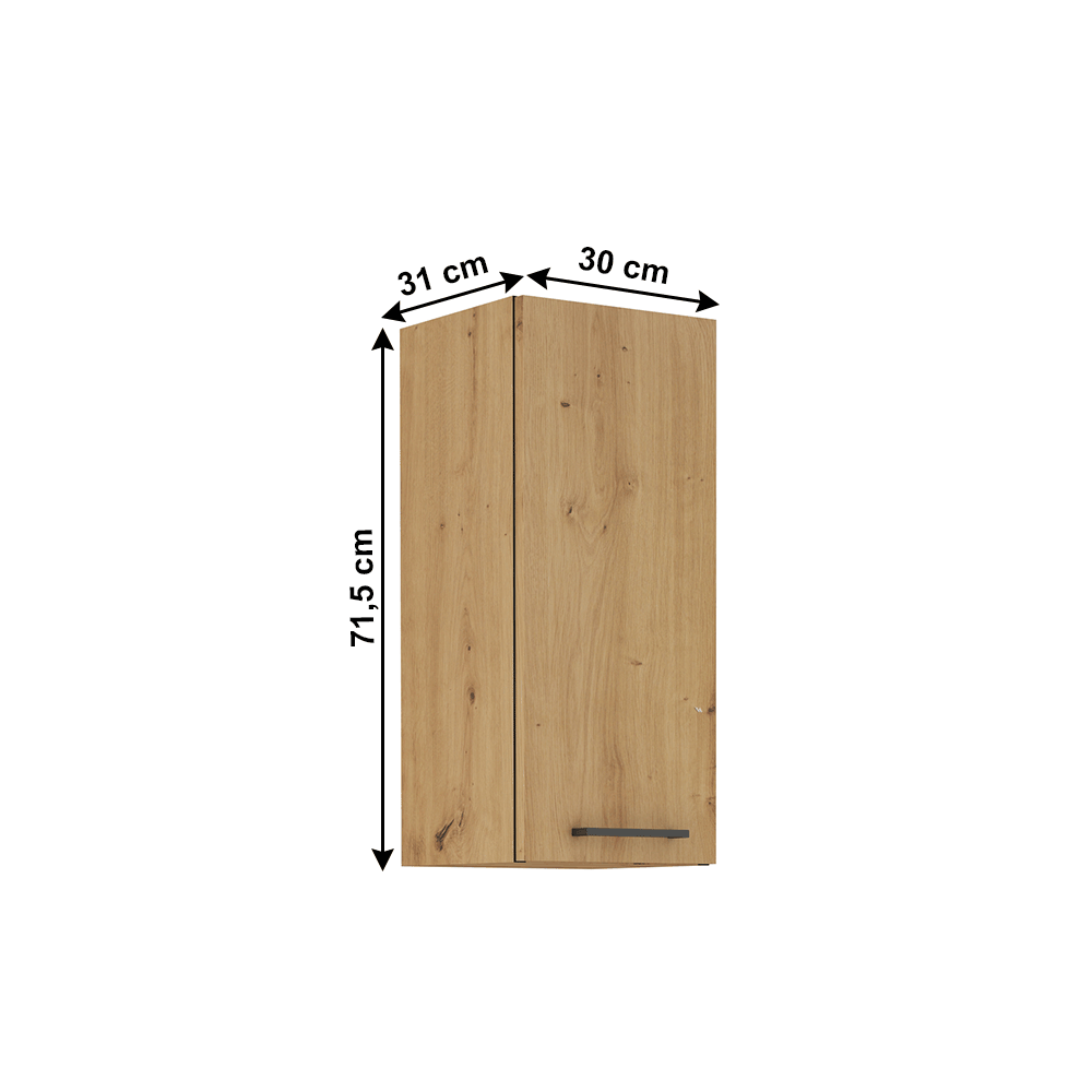 Felső szekrény, artisan tölgy, MONRO 30 G-72 1F