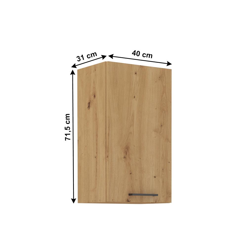 Felső szekrény, artisan tölgy, MONRO 40 G-72 1F