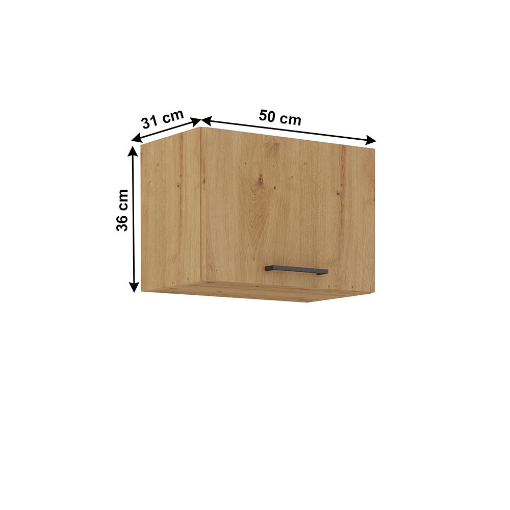 Felső szekrény, artisan tölgy, MONRO 50 GU-36 1F