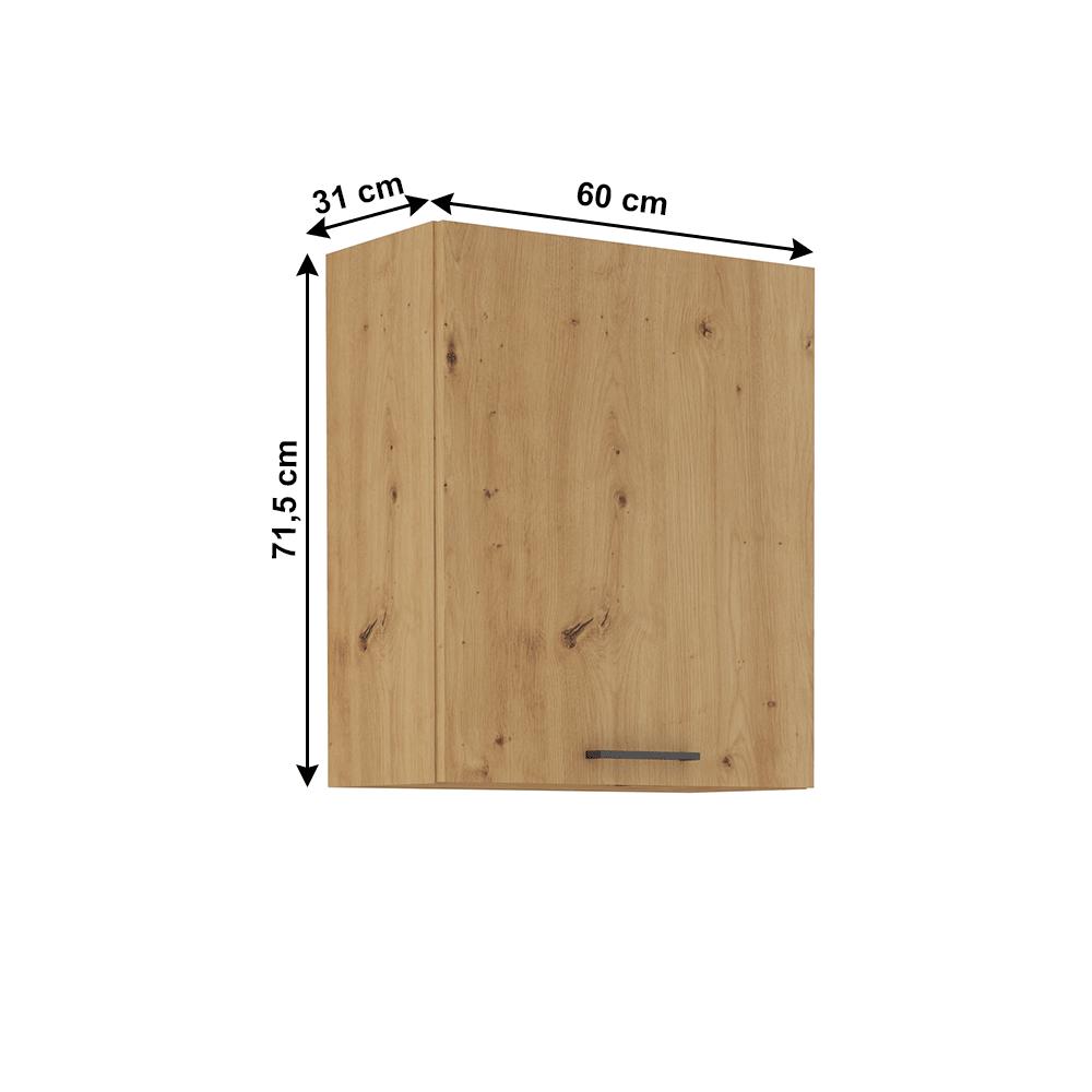 Felső szekrény, artisan tölgy, MONRO 60 G-72 1F