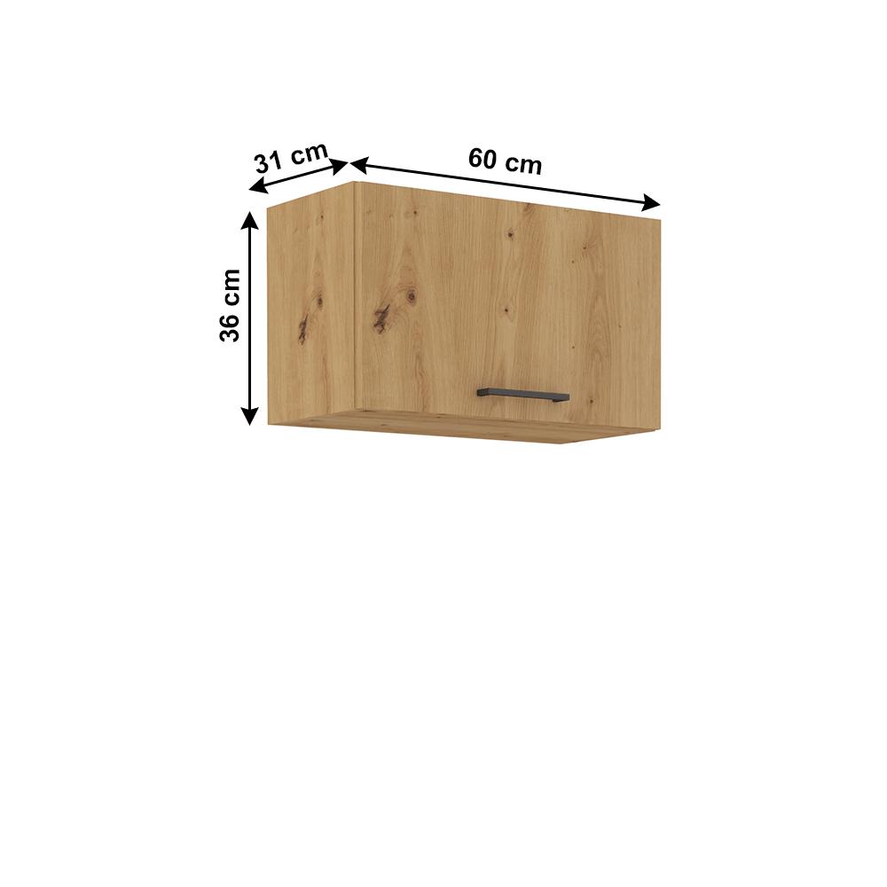 Felső szekrény, artisan tölgy, MONRO 60 GU-36 1F