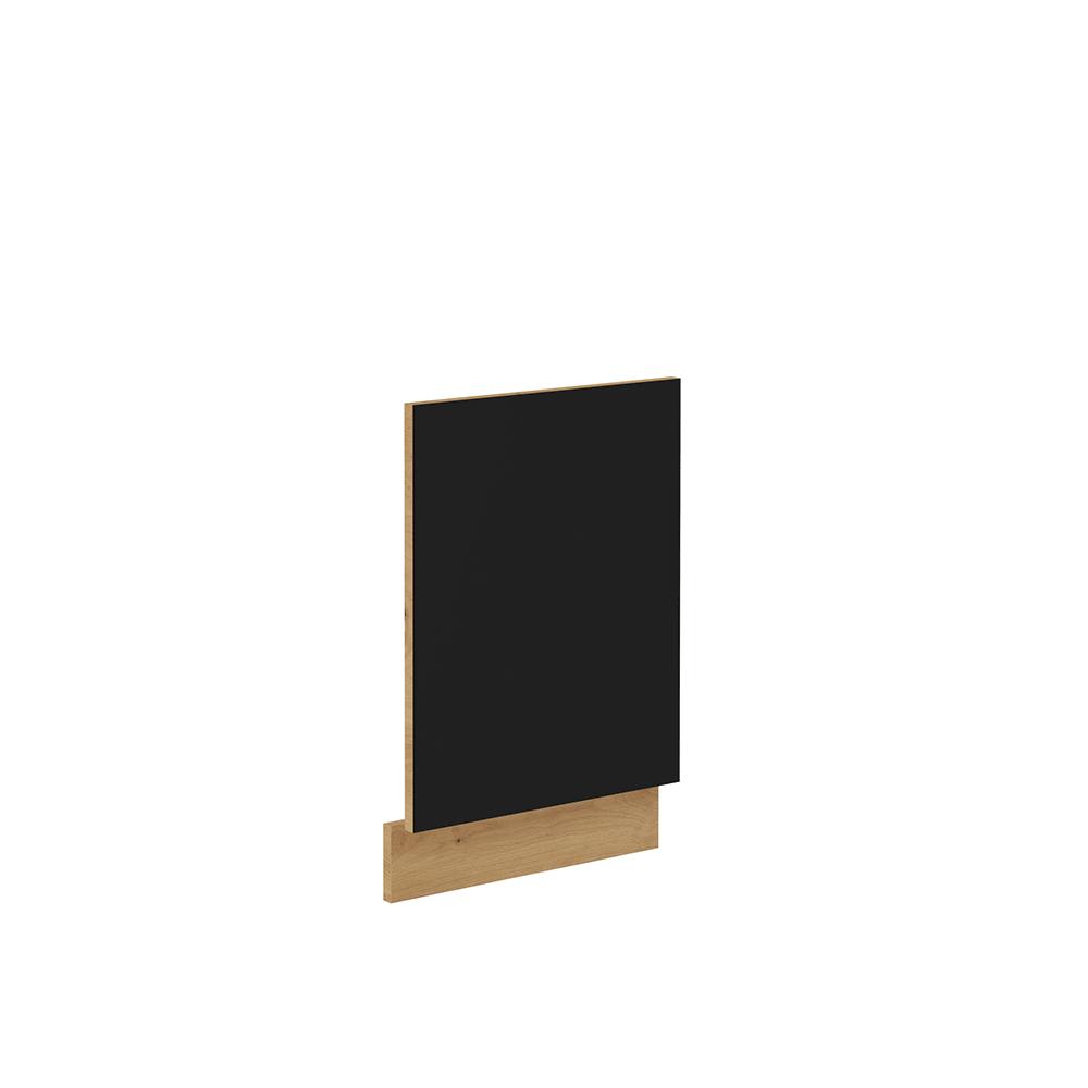 Ajtók mosogatógéphez, matt fekete/artisan tölgy, MONRO ZM 570x446