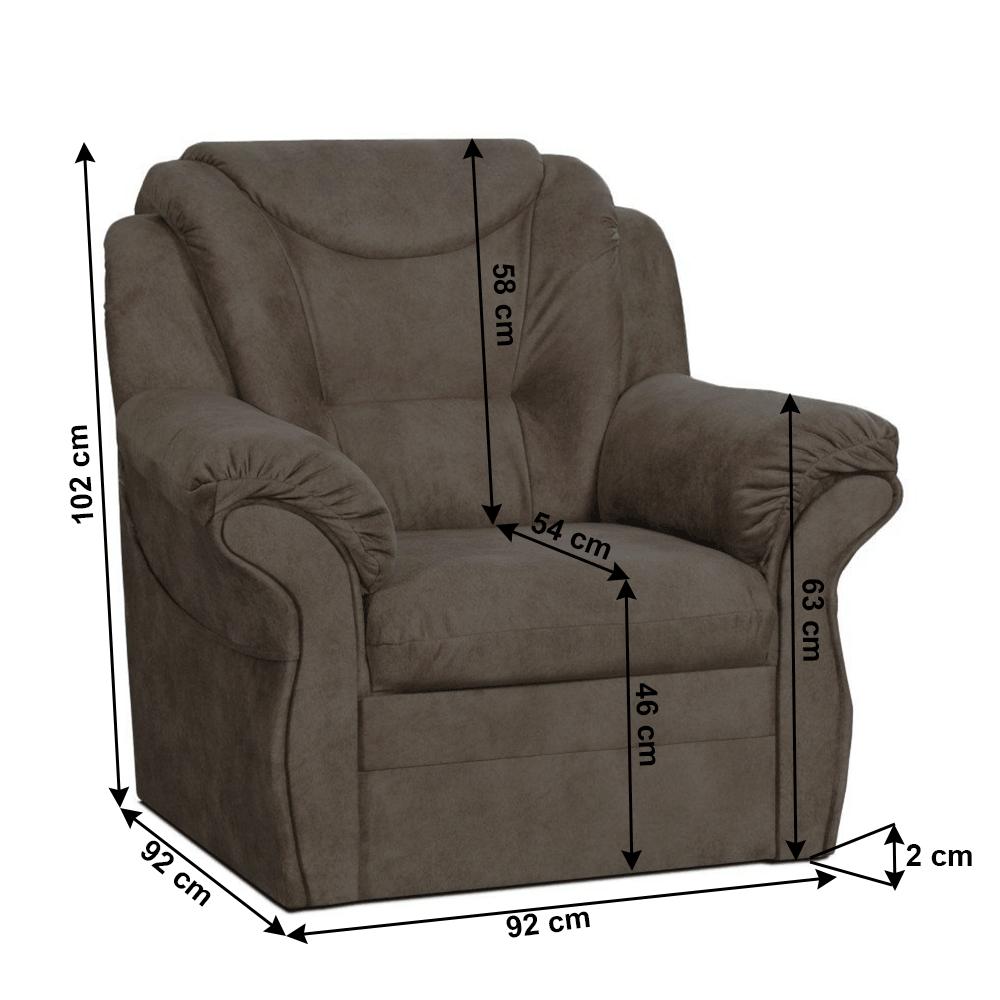 Relax fotel, barna, MORAG