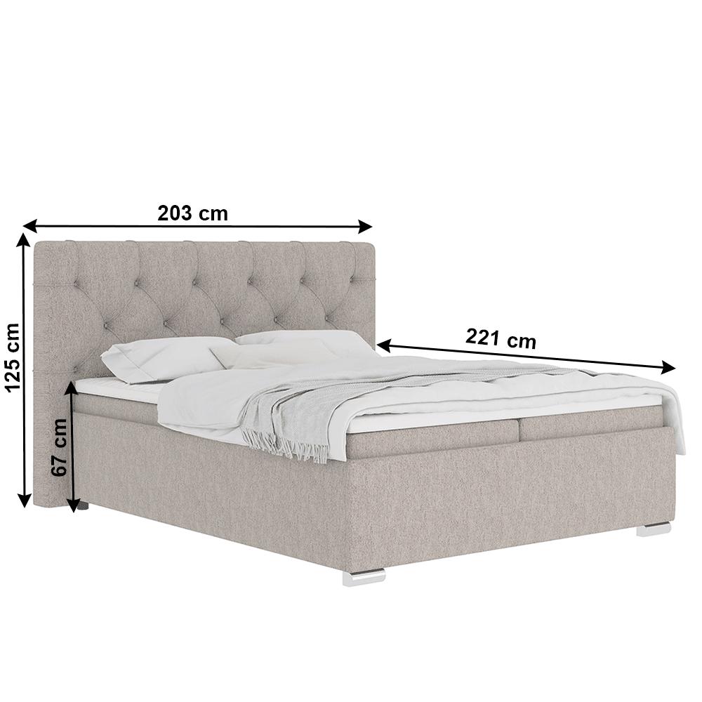 Boxspring ágy 180x200, szürkésbarna Taupe, MORINA