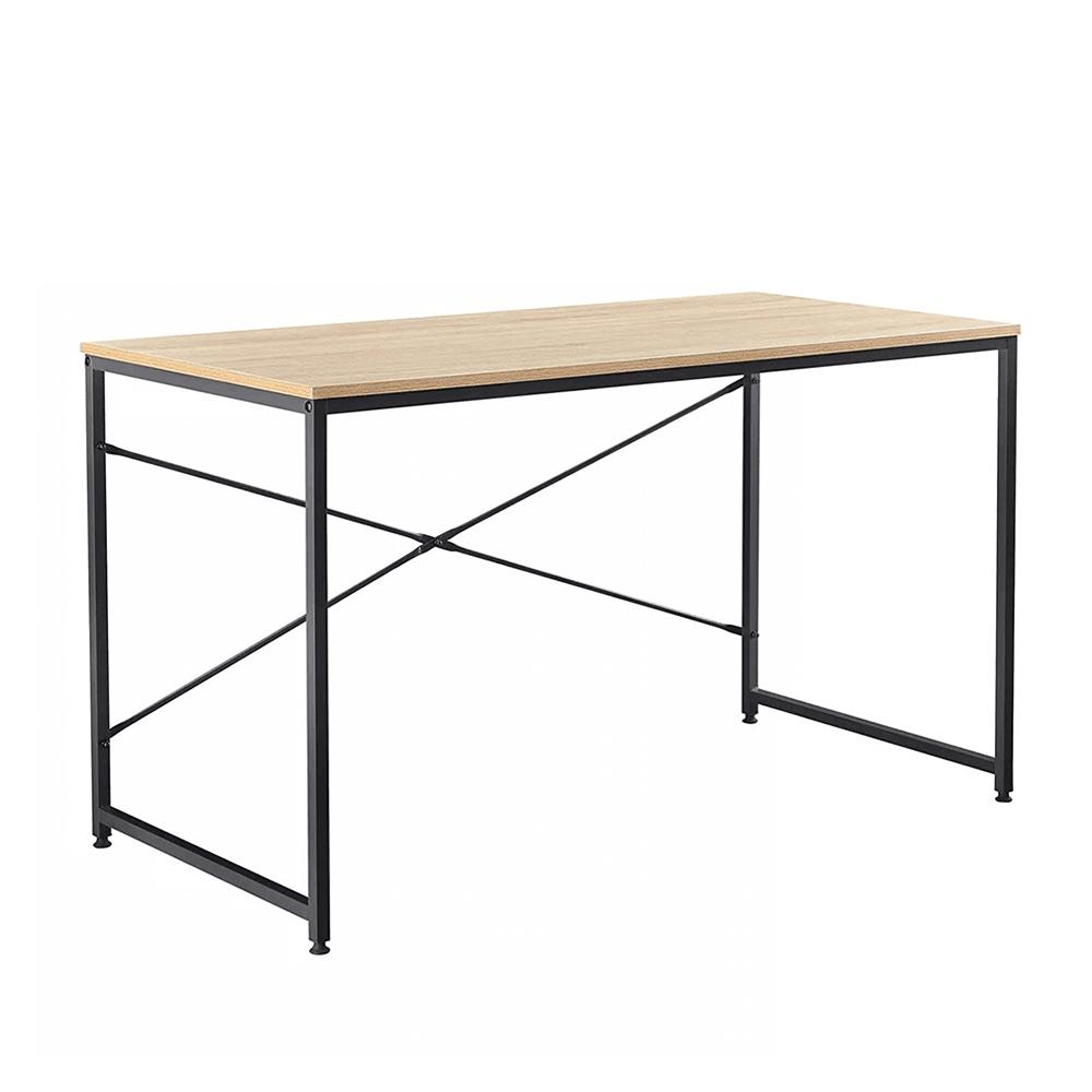 Íróasztal tölgy/fekete, MELLORA