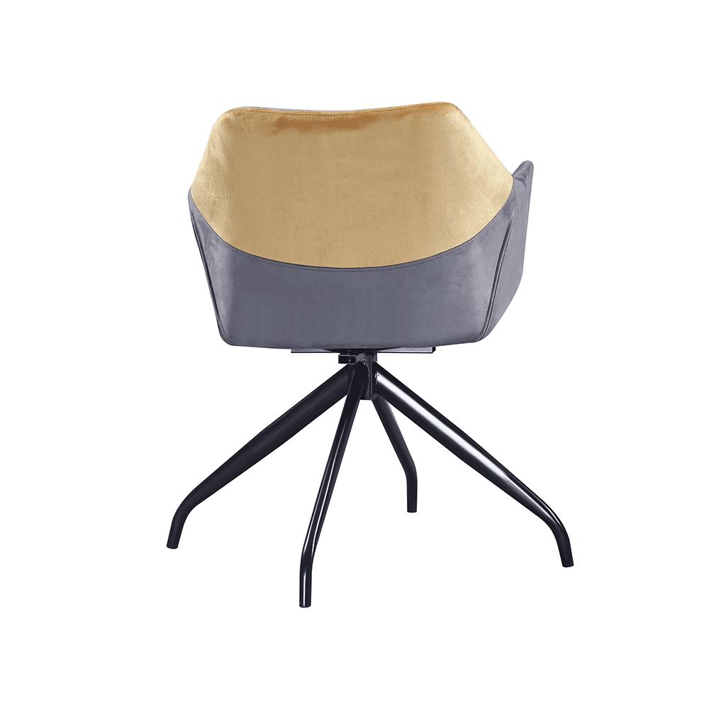 Forgó szék, szürke, camel Velvet szövet/fekete, RATOKO