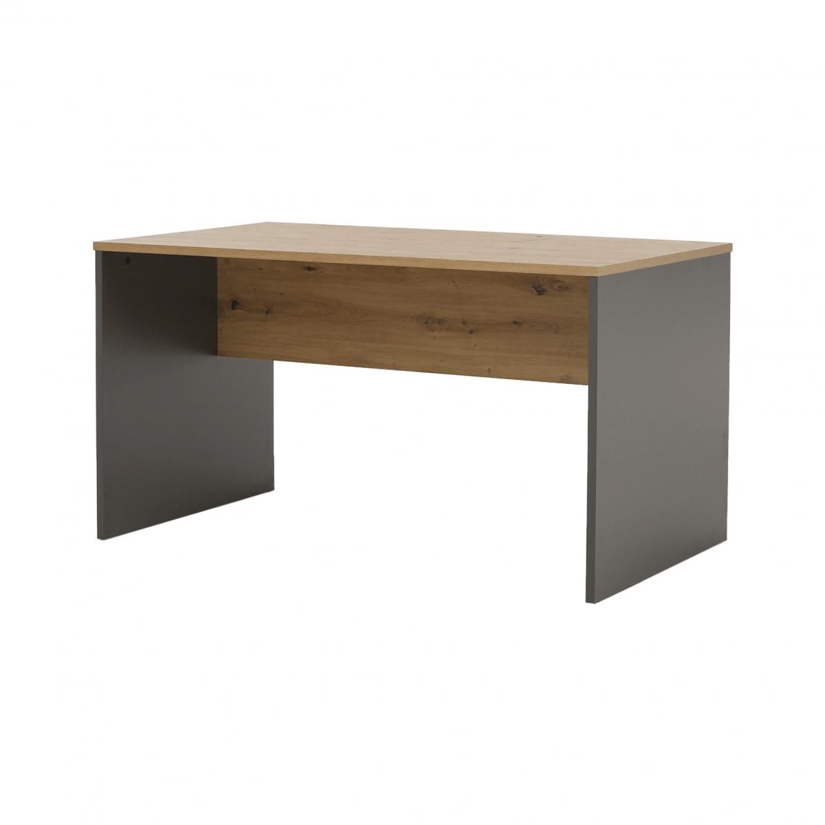 Íróasztal, grafit/tölgyfa artisan, RIOMA NEW TYP 16