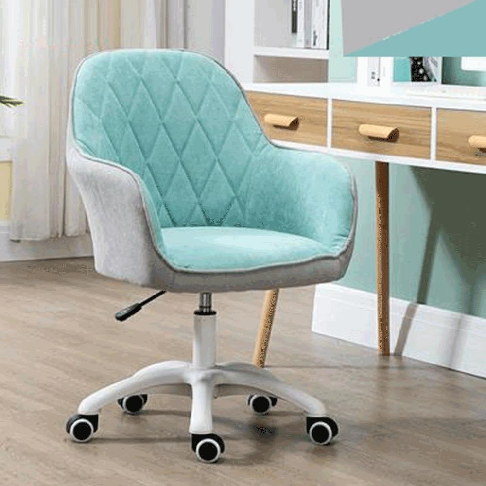 Irodai szék, szövet mentol/szürke/fehér, SANTY