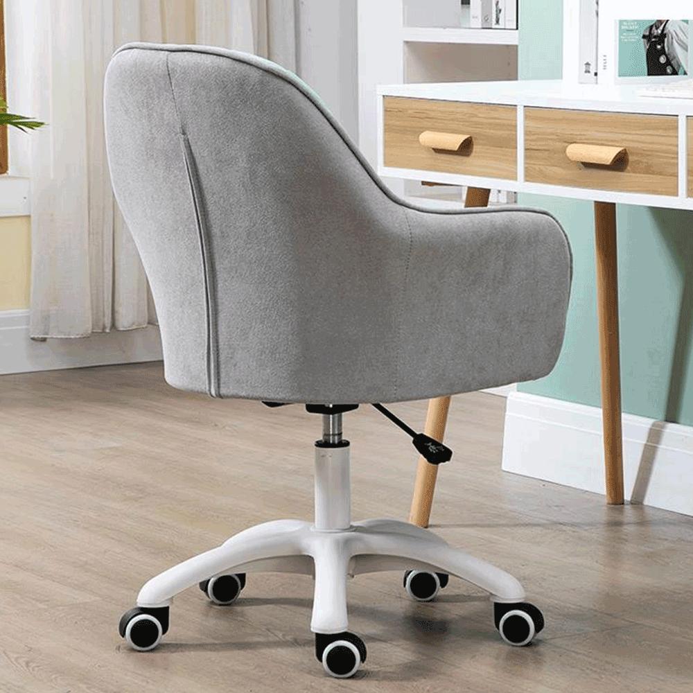 Irodai szék, szürke szövet/fehér, SANTY