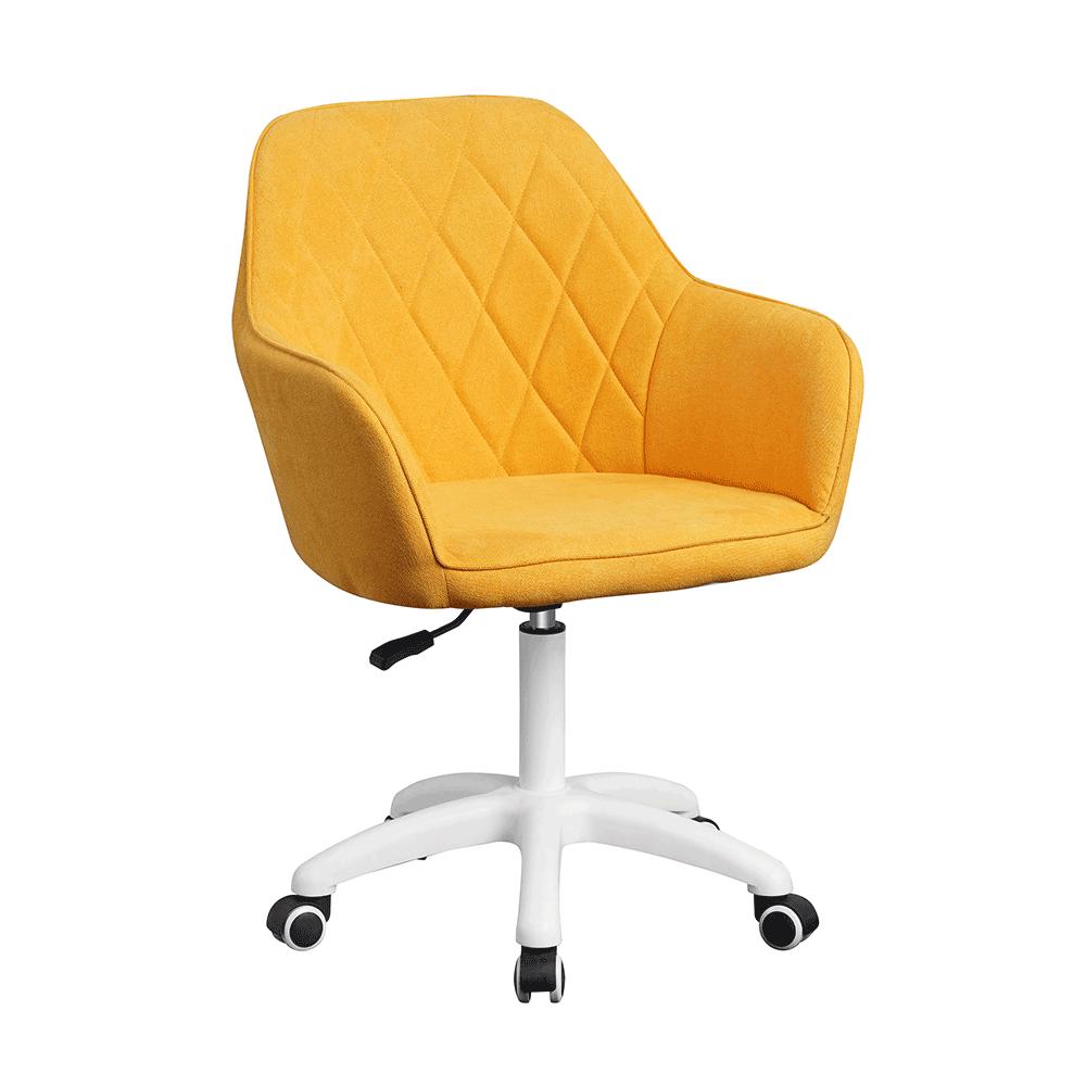 Irodai szék, szövet sárga/fehér, SANTY