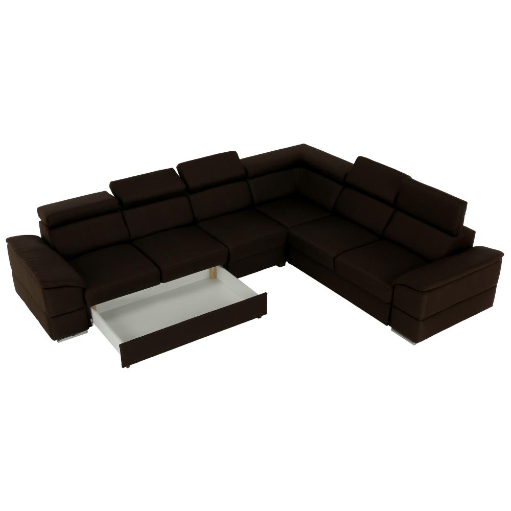 Ülőgarnitúra, szövet csoki, SEGORIA LUX