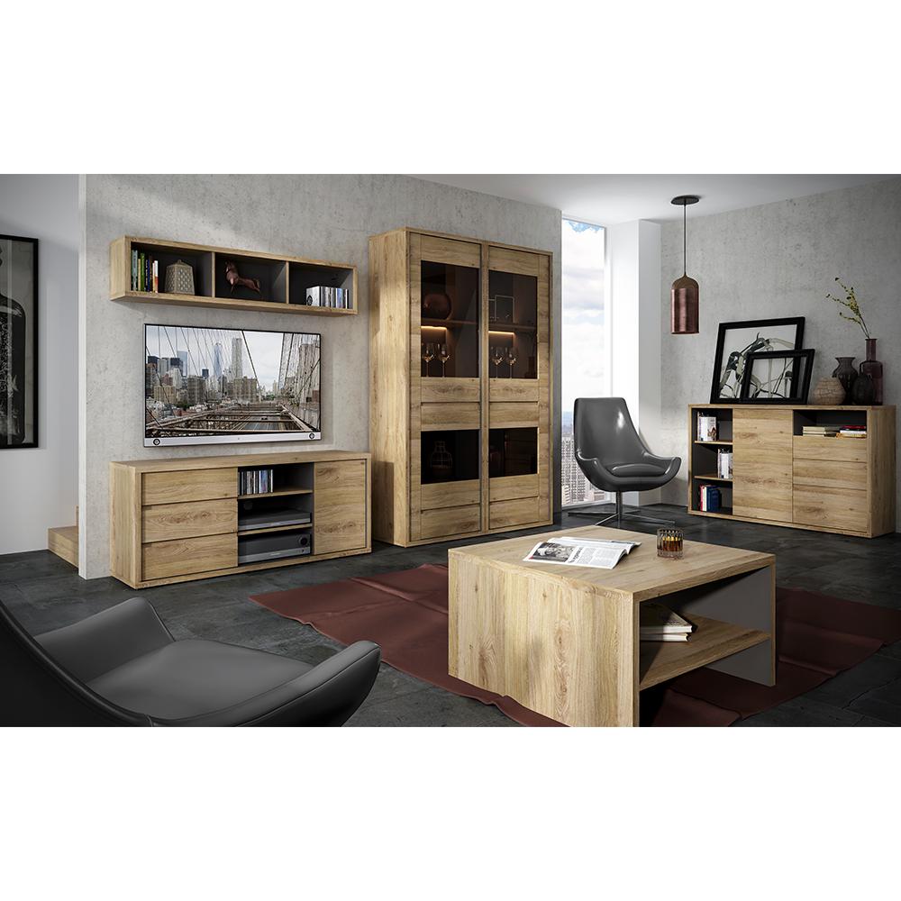 Kombinált szekrény, shetland tölgy, SHELDON TYP 20
