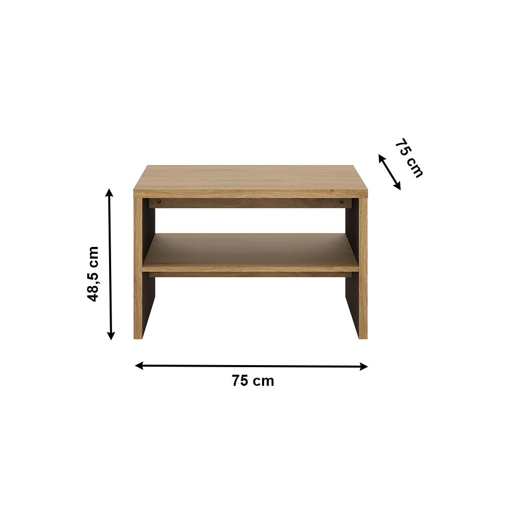 Dohányzóasztal, shetland tölgy, SHELDON TYP 71