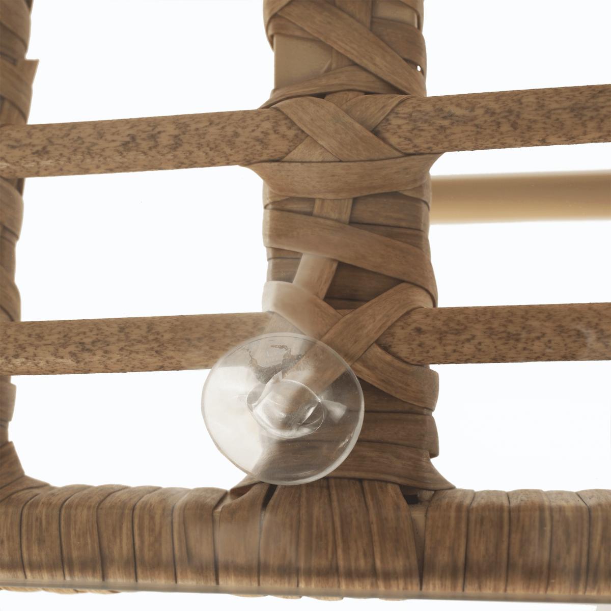 Kerti 4 darabos rattan szett, természetes/szürke, TAJRO